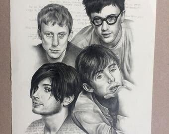 BLUR A4 original pencil drawing