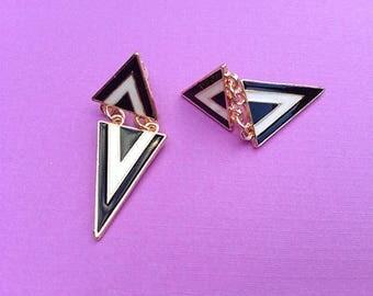 Beauty in Triangles Geometric Earrings