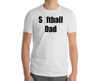 Softball Dad Short-Sleeve T-Shirt Sport Shirt
