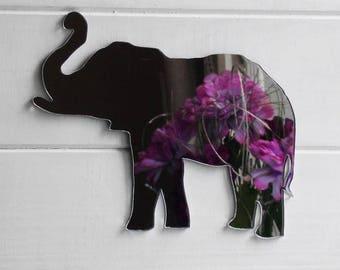 Lucky Elephant Trunk Up Acrylic Mirror