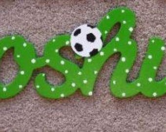 Personalised Scrool Name Custom Door Plaques Wall Signs Bedroom Decorations -Any Colour - Footballs, Butterflies, rhinestones, glittery,