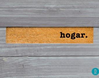 Hogar Skinny Doormat, Hogar Door Mat, Hogar Welcome Mat, Hogar Doormat, Hogar Felpudo, Slim Doormat, Hogar Mat, Alfombra De Bienvenida