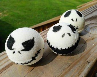 Halloween Bath Bomb - Dragons Blood- Patchouli and Vanilla- Halloween Bath Bombs- Bath Bomb- Tim Burton- Jack O skeleton- Skeleton- Sale
