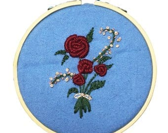 Floral Bouquet Hand Embroidery