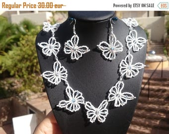 """Necklace and ear-rings """"butterflies"""""""