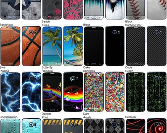 Choose Any 2 Designs - Vinyl Skins / Decals / Stickers for Samsung Galaxy S6 Android Smartphone