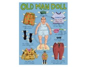 Old Man Paper Doll