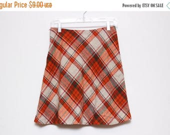 30% OFF VTG 70s Plaid School Girl Mini Skirt S