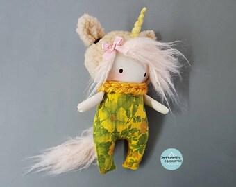 Doll, rag doll, art doll, the model name: Unicorn Camille