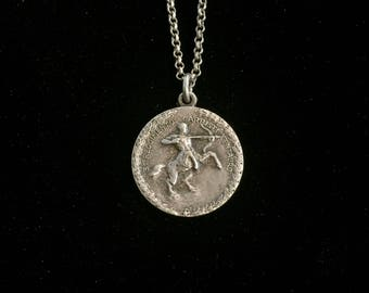 antique Centaur medallion