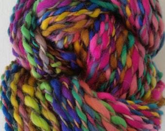 NINA skein of yarn spun to spinning wheel