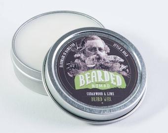 Cedarwood and Lime Beard and Moustache Wax