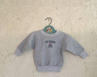 Vintage Baby Clothes Bar Harbor Maine Sweatshirt Size 18 Months