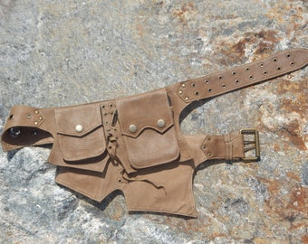Brown Leather Utility Belt