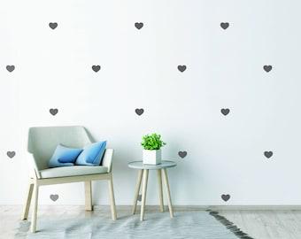 Love Heart Wall Stickers Love Heart Pattern Cute Nursery Wall Decals Kids  Room Wall Decor Babies Part 18