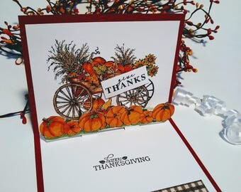 Thanksgiving pop-up Card, thanksgiving 3 D card, Thanksgiving pumpkin pop up card, pumpkin pop up card
