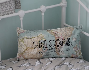 New home personalised cushion - housewarming - birthday - home decoration - wedding