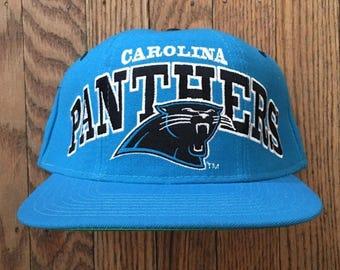 Vintage 90s Starter Carolina Panthers NFL Snapback Hat Baseball Cap