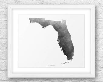 Florida Map, Florida Print, Florida Art, Florida State, Florida Minimal Design, Minimalist Art, Florida Printable,Instant Download