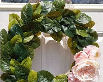 ON SALE Floral wreath, spring wreath, summer wreath