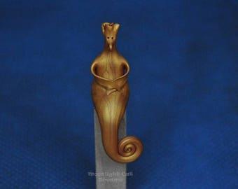 Flowerhead Fnigg, Fantasy Creature, Fantasy Figurine, Miniature, Collectible Figurines, Handmade Figurine, Whimsy, Whimsical Figurine