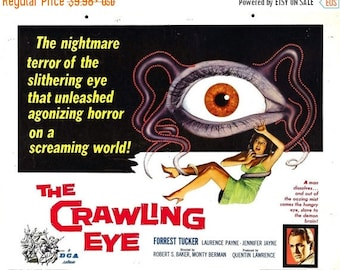 Back to School Sale: THE CRAWLING EYE Movie Poster 1958 Horror Monster Movie