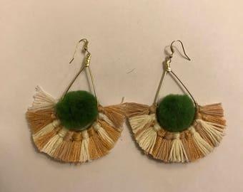 Pom Pom and Tassel earings