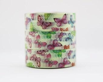 Washi tape butterflies Colorful masking tape