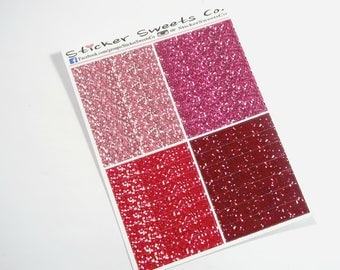 Glitter Headers shades of pink