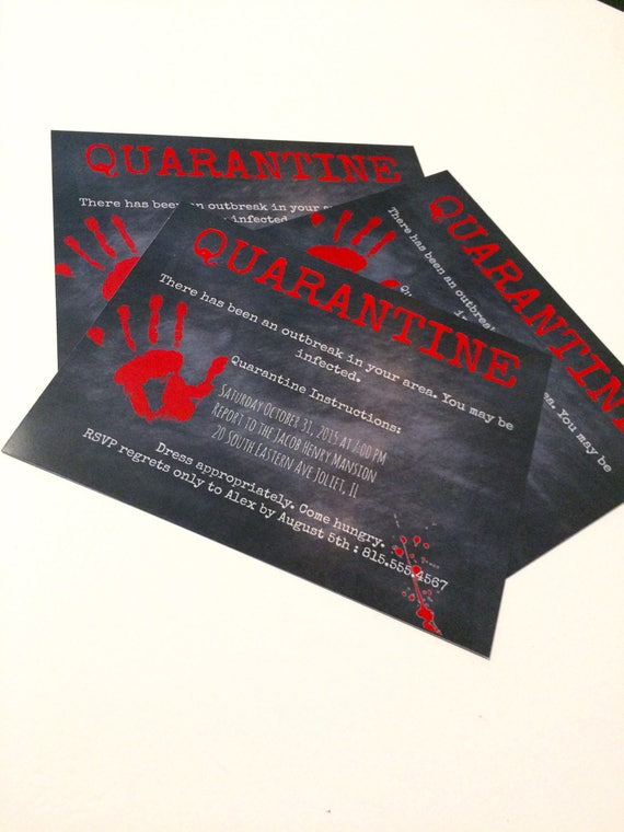 Items similar to zombie halloween party invitation on etsy reheart Images