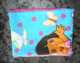 pouch for little girl sewn debora fabric 100% cotton