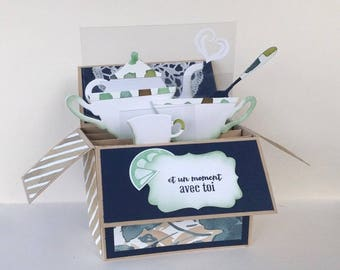 Pop Up card - A time tea - all occasions