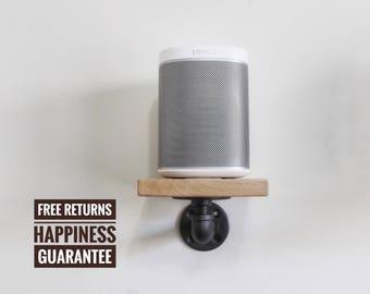 Industrial speaker stand ⋆ Industrial speaker shelf ⋆ speaker wall mount⋆ sonos speaker stand ⋆surround sound supports ⋆ industrial pipe