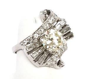 Vintage Ladies Art Deco Diamond Ring