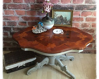 Vintage Hand Painted Coffee Table in Paris Grey
