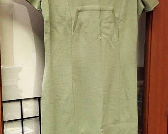 Lovely Green MOD Dress Vintage Short Sleeve GINO PAOLI