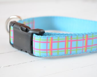 "1"" Blue Plaid"