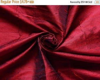 10% OFF Pure Silk Fabric, Pure Dupioni Silk Fabric, Silk Fabric, Indian Silk Fabric, Maroon Silk Fabric