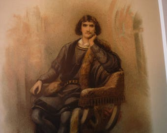 Shakespeare's Hamlet- print from 1890 Raphael Tuck - gift for actress actor rare – 2 sizes available with or without mat
