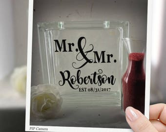 Mr. & Mr. Unity Sand Ceremony Glass box