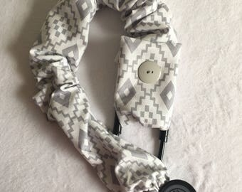 Gray aztec stethoscope cover