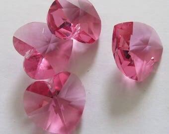 Heart 18 mm Rose Swarovski Crystal