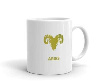 Aries Zodiac Mug made in the USA
