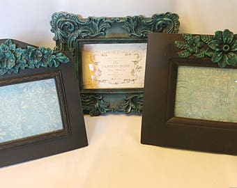 frame set, patina frames,table frames, vintage frame,beautiful frame, old frames,collage frames