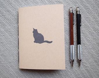 Small cat notebook kraft journal