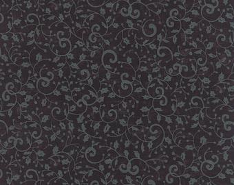 Moda REJOICE In The SEASON Quilt Fabric 1/2 Yard By Deb Strain - Black 19765 22