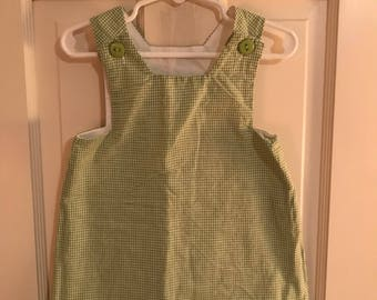 18 Month Green and White Gingham Checked Jumper