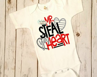 FREE SHIPPING***Mr. Steal Your Heart Valentines Day Shirt,Valentines Shirt,Boys Valentines Shirt,Boys Valentines Shirt,Stupid Cupid