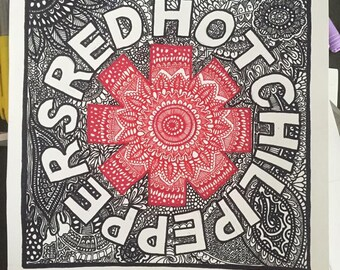 Red Hot Chili Peppers Mandala Print