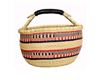 Loquat Round Bolga Medium Basket
